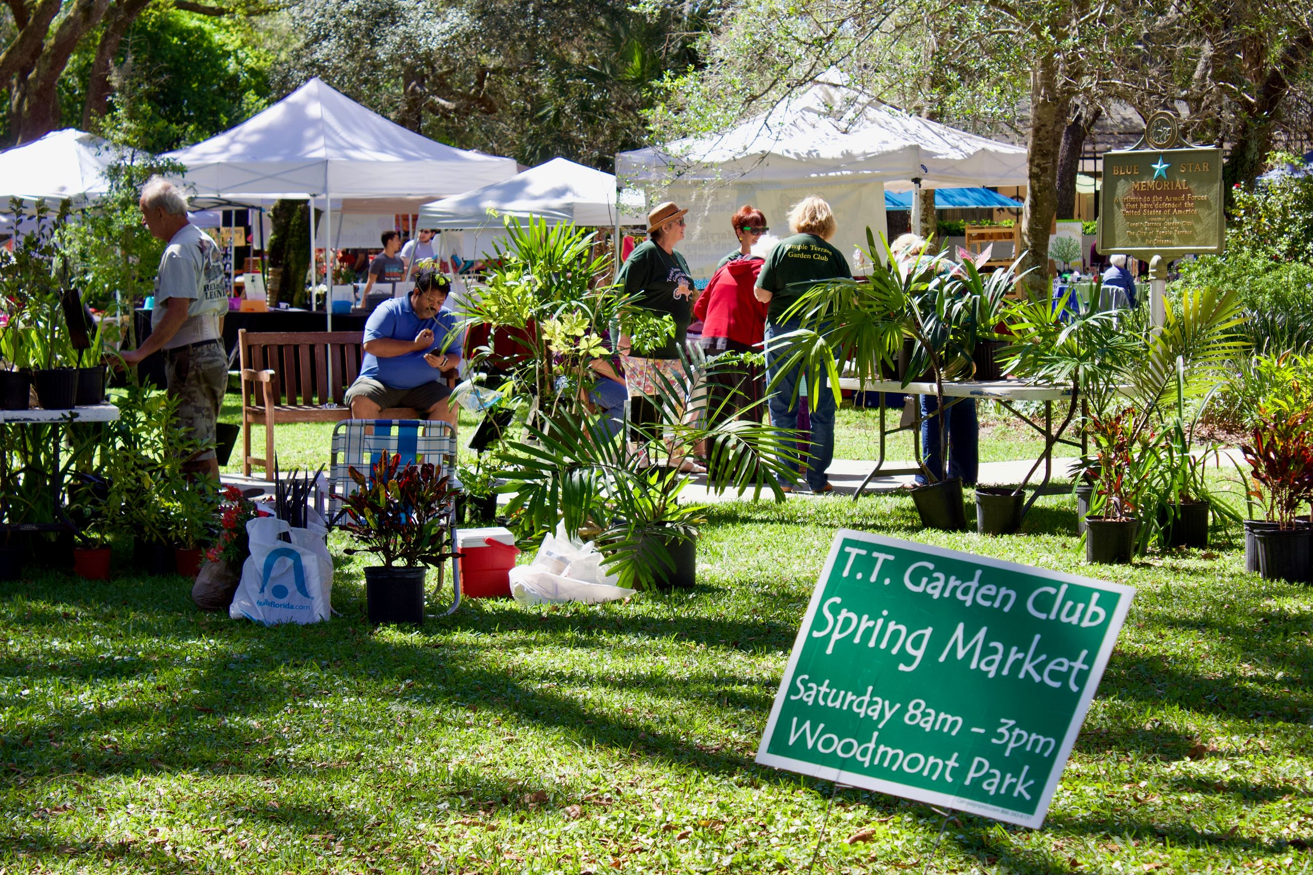 The Spring Market hosted by the TT Garden Club in Woodmont Park