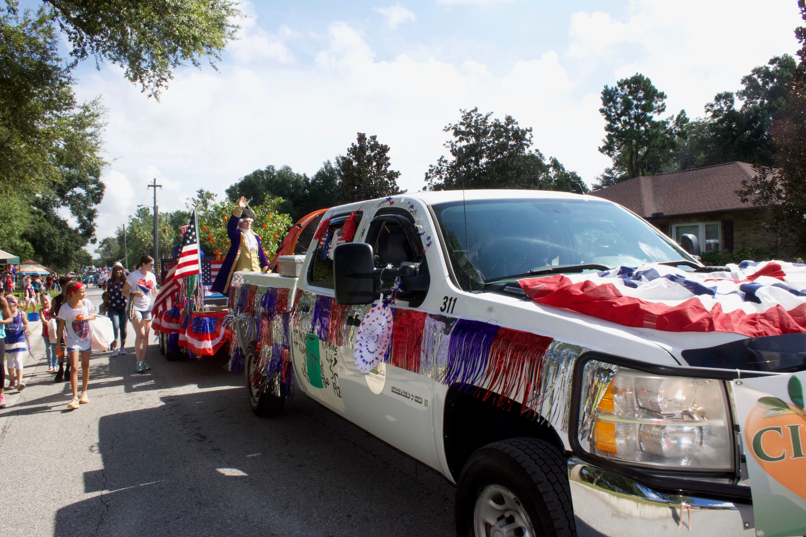 The City Float in the annual July 4 Parade