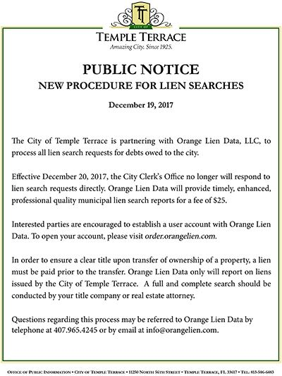 2017-12-19 Orange Lien Data Public Notice