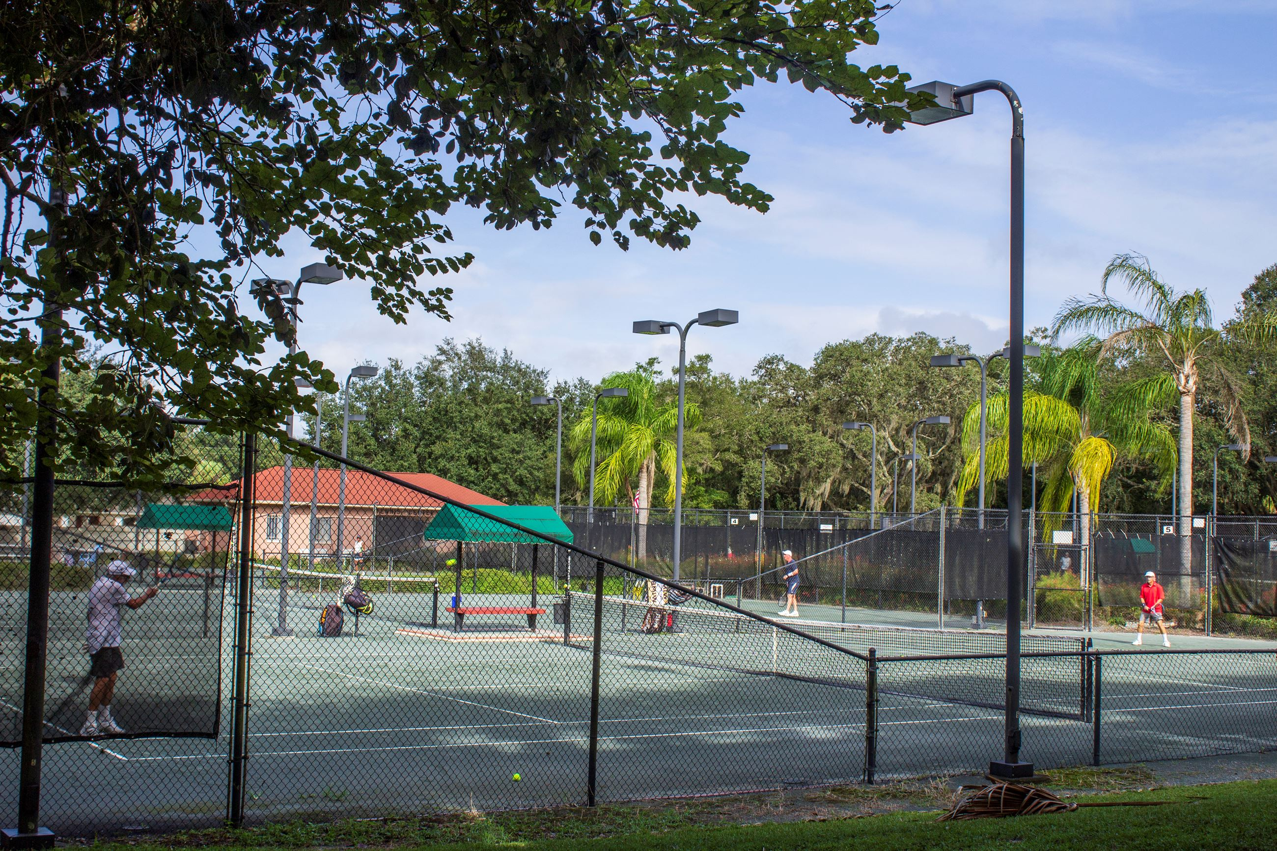 Tennis courts at the Family Rec Complex