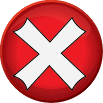 Red X icon indicating a negative message.